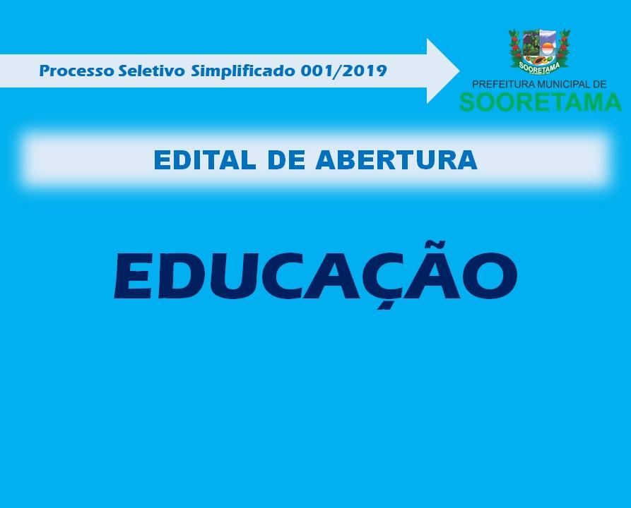 Edital secretaria de educação